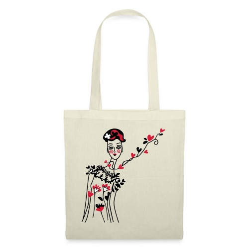 little woman of hearts - Tote Bag