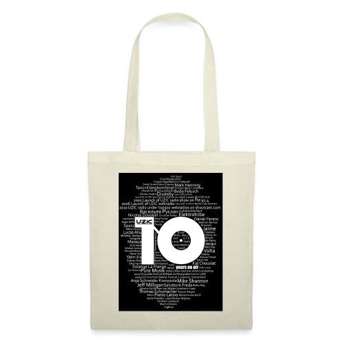 02 tshirt txt blanc fond noir - Tote Bag