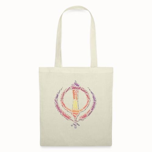 T-shirt sikh khanda encompassing world religions - Tote Bag