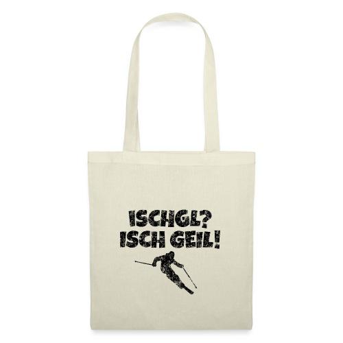 Ischgl Ischgeil (Vintage Schwarz) Ski Skifahrer - Stoffbeutel