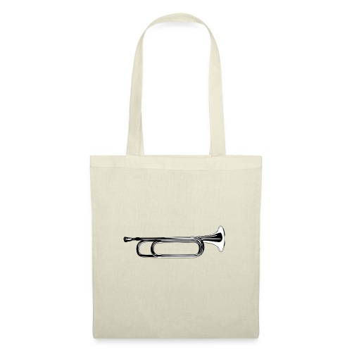 Trompeta blanco y negro - Bolsa de tela