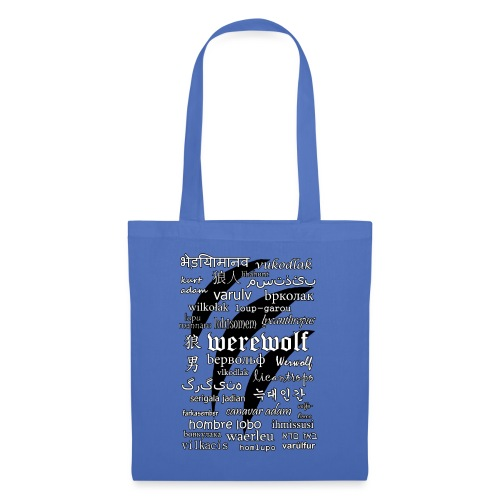 Werewolf in 33 Languages.png - Tote Bag