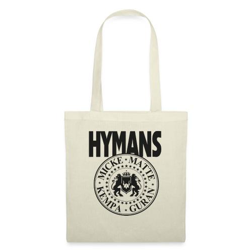 Hymans Merch Svart Tryck - Tygväska