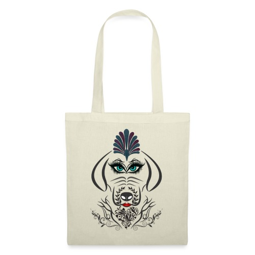 Hipster Dog Girl by T-shirt chic et choc - Tote Bag