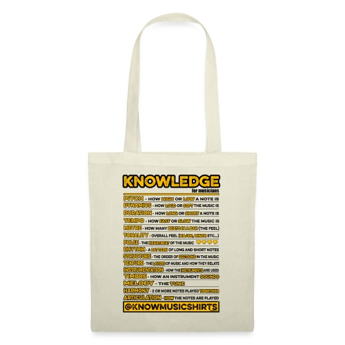 Knowledge (for musicians) - Tote Bag