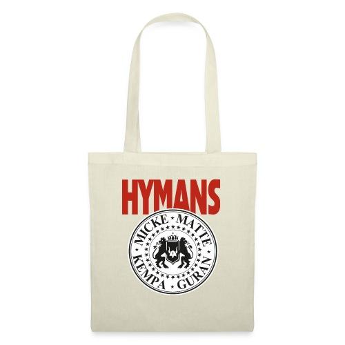 Hymans Red White Black logo - Tygväska