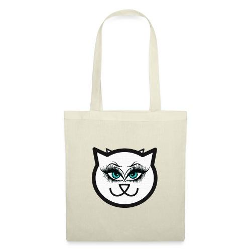 Hipster Cat Girl by T-shirt chic et choc - Sac en tissu