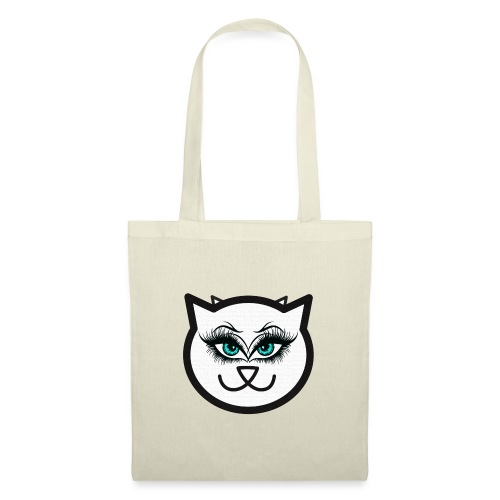 Hipster Cat Girl by T-shirt chic et choc - Tote Bag