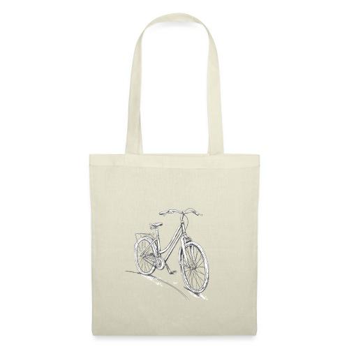 Fahrrad Für Damen Zeichnung - Stoffbeutel