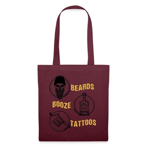 Beards Booze Tattoos Fathers Day Gift - Stoffbeutel