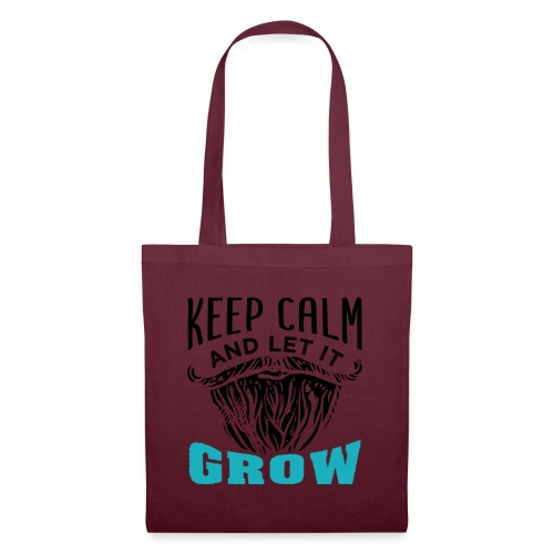 Beard Keep Calm And Let It Grow - Stoffbeutel