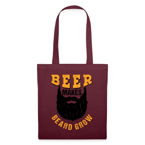 Beer Makes Beard Grow Funny Gift - Stoffbeutel