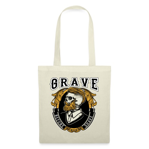 Grave Before Shave Bearded - Stoffbeutel
