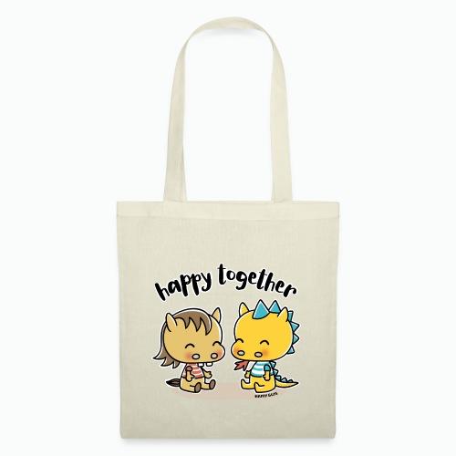 Happy Together - Pferd und Drache - Stoffbeutel