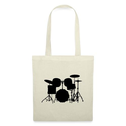 Drumset 1 Kontur schwarz - Stoffbeutel