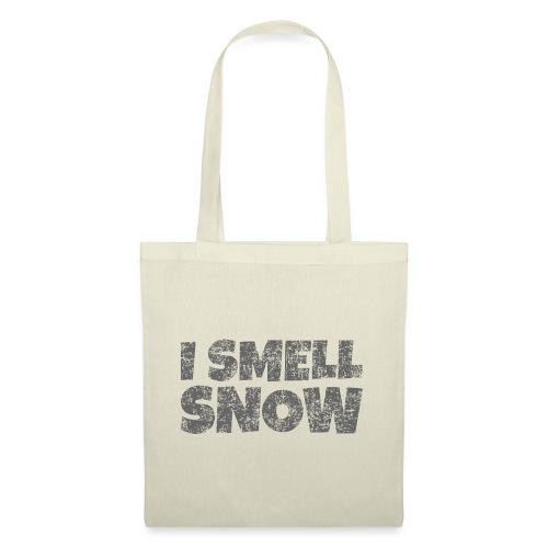 I Smell Snow (Dunkelgrau) Schnee, Wintersport, Ski - Stoffbeutel