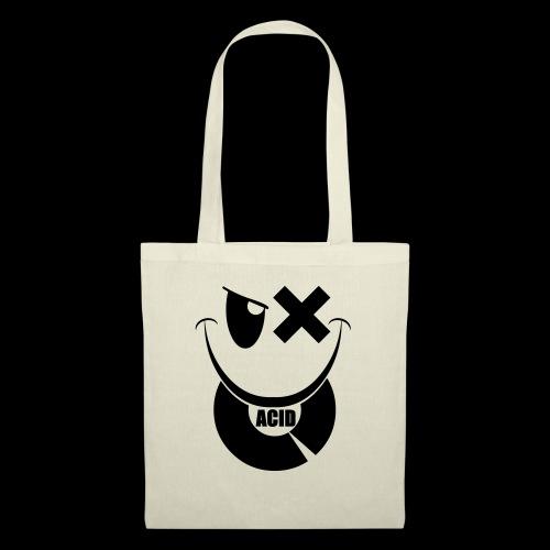 smiley acid techno vinyl - Tote Bag