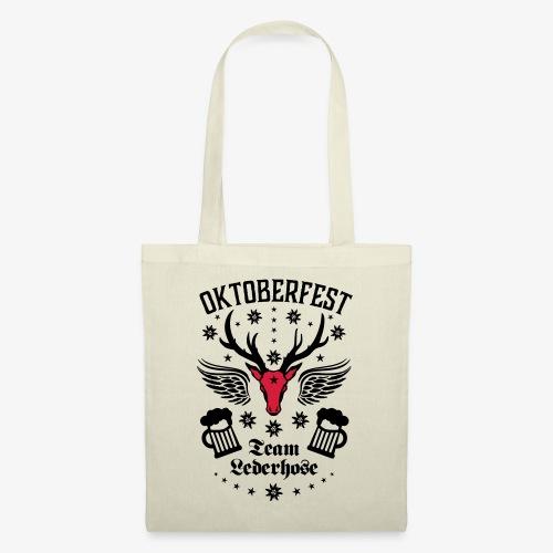 03 Oktoberfest Hirsch Bier Team Lederhose Bayern - Stoffbeutel
