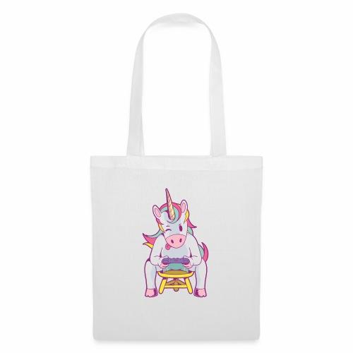 gamer unicorn - Stoffbeutel