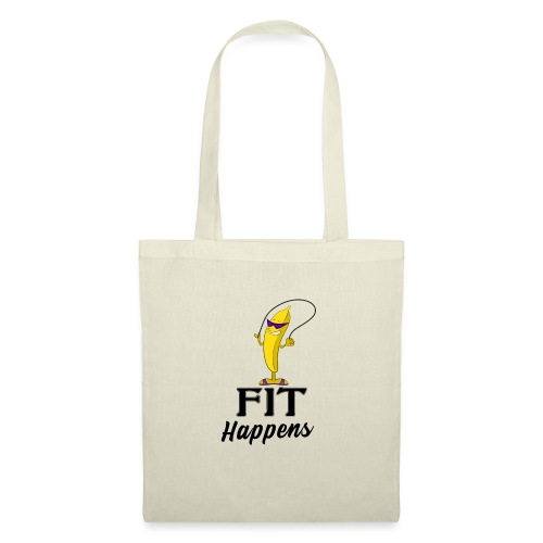 Fit Happens Banana - Stoffbeutel