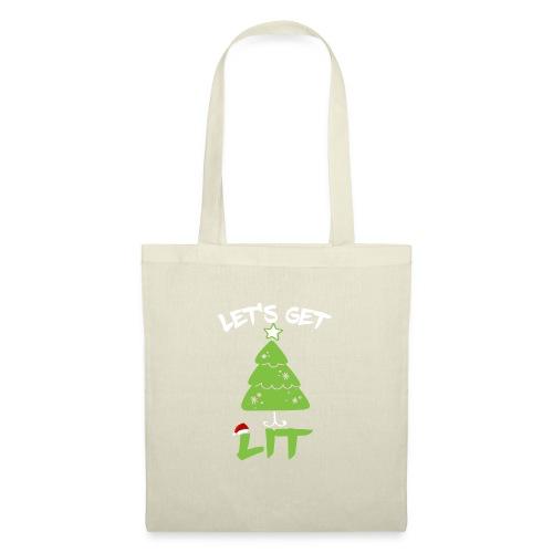 Let's Get Lit T-shirt - Funny Christmas Shirt - Bolsa de tela