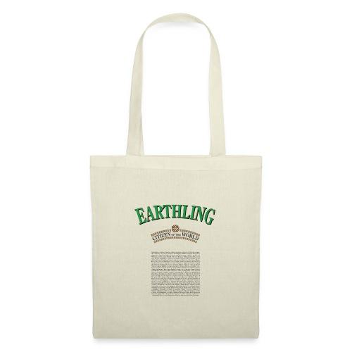 Earthling - Citizen of the World - Tygväska