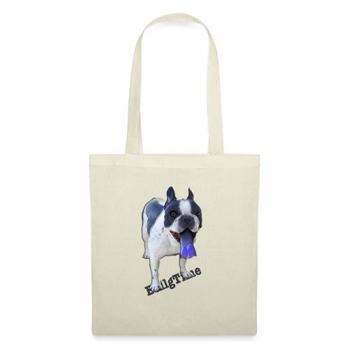 Bulldog francés. BullgTime. Dog Azul Turquis - Bolsa de tela