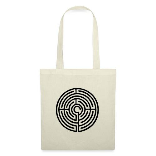 Labyrinth Schutzsymbol Lebensweg Magie Mystik - Stoffbeutel