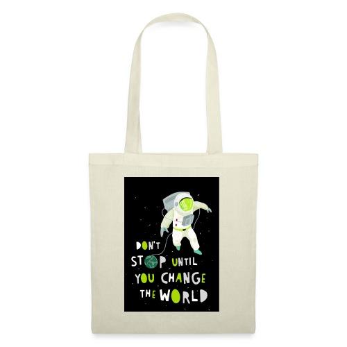 Change the world black - Stoffbeutel