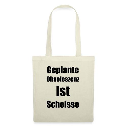Obsoleszenz Schwarz Weiss - Stoffbeutel