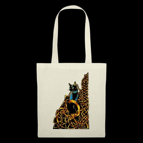 Celtic Cat - sitting - Tote Bag