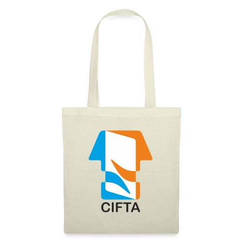 Logo CIFTA letra negro - Bolsa de tela