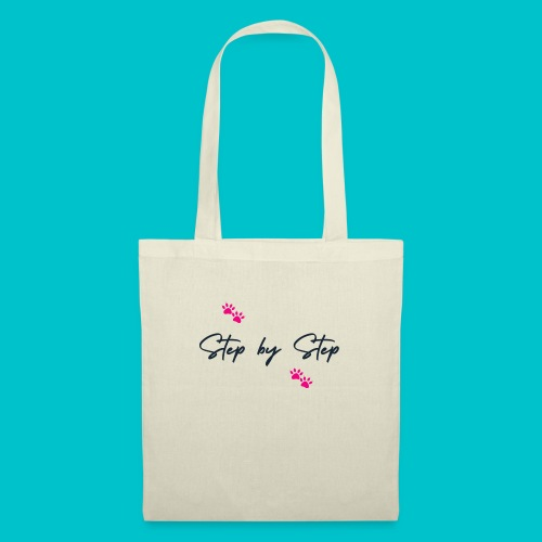 Step by Step (zampine rosa) - Borsa di stoffa