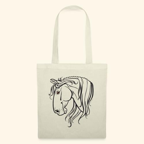 Cheval espagnol (noir) - Tote Bag