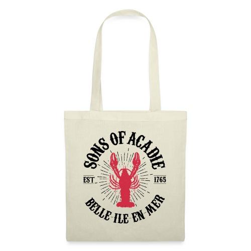 Sons of Acadie Homard Rouge et Noir - Sac en tissu