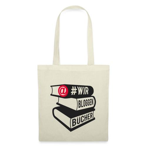 #wirbloggenbücher Logo - Stoffbeutel