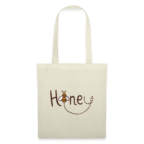 Honey Logo Druck mit Biene - Stoffbeutel