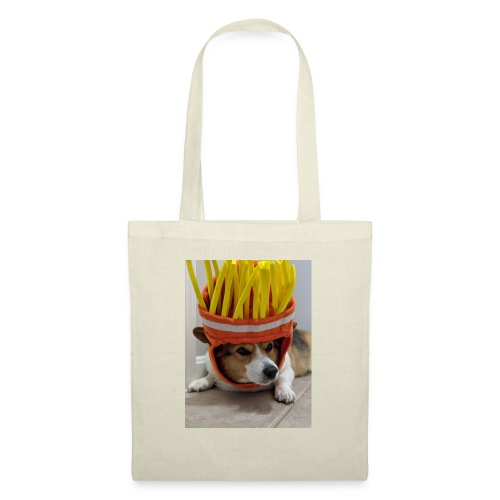 dog with c00l hat - Torba materiałowa