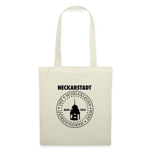Neckarstadt Blog seit 2014 (Logo dunkel) - Stoffbeutel