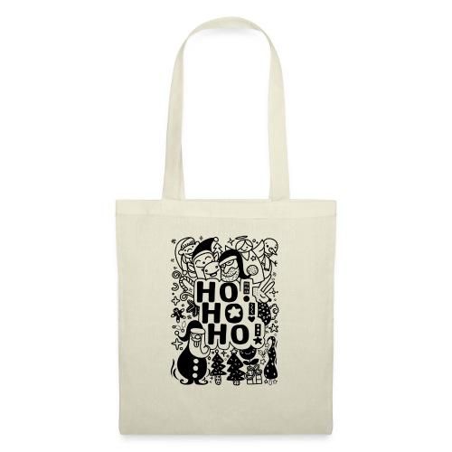 Ho! Ho! Ho! , Style drôle dessinés à la main Noël - Tote Bag