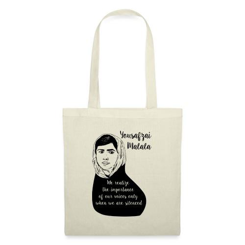 Yousafzai Malala quote t shirt - Tote Bag