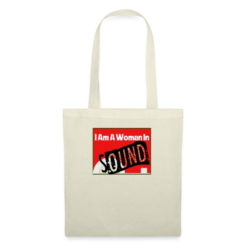 I am a woman in sound - red - Tote Bag