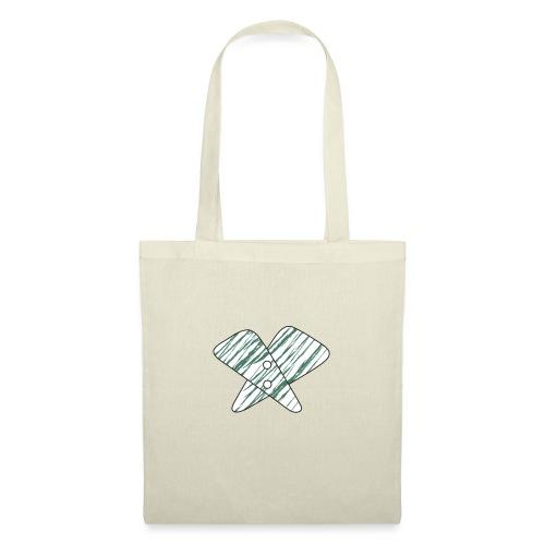 lettera X verde - Borsa di stoffa