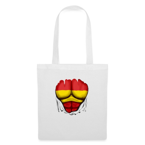 España Flag Ripped Muscles six pack chest t-shirt - Tote Bag