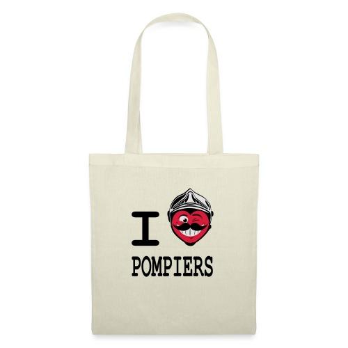 i_love_pompier_4 - Tote Bag