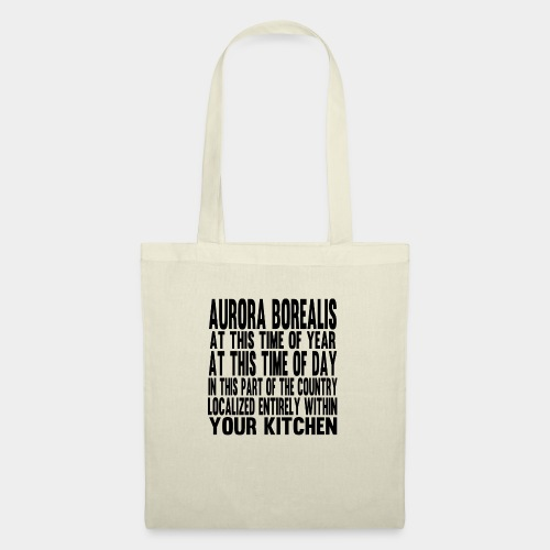 Aurora Borealis Black - Tote Bag