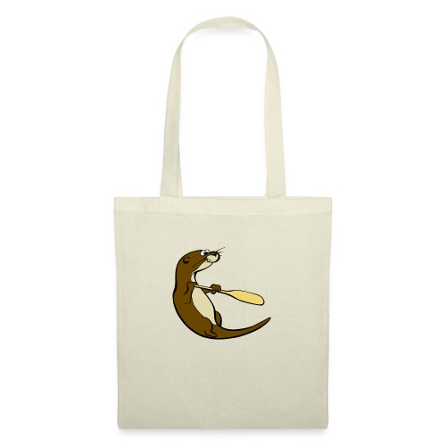Classic Song of the Paddle otter logo - Tote Bag