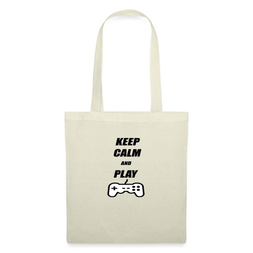 Maglietta Keep Calm And Play bianca. - Borsa di stoffa