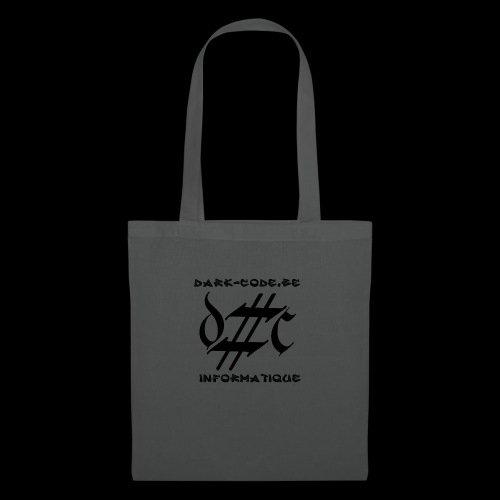 Dark-Code Black Gothic Logo - Sac en tissu