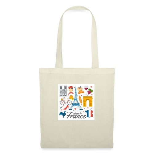 collection femme welcome to france - Sac en tissu